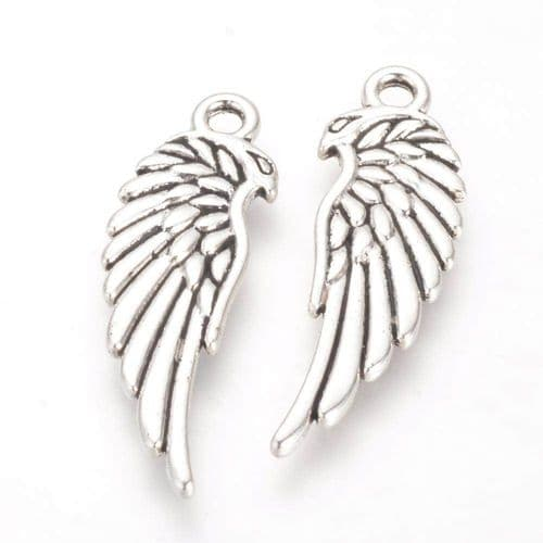 Large Wing Silver Charms (4)